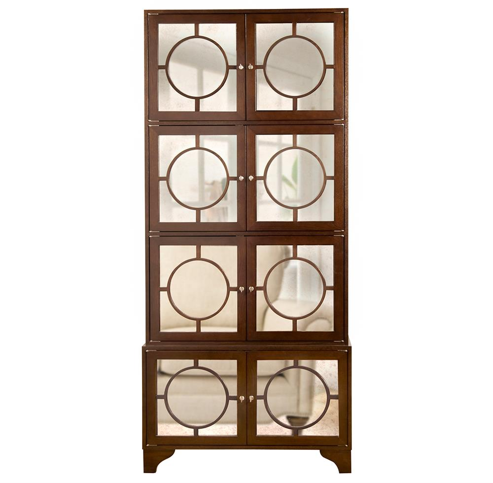 vance modern hollywood espresso antique mirror china cabinet kathy kuo home. Black Bedroom Furniture Sets. Home Design Ideas