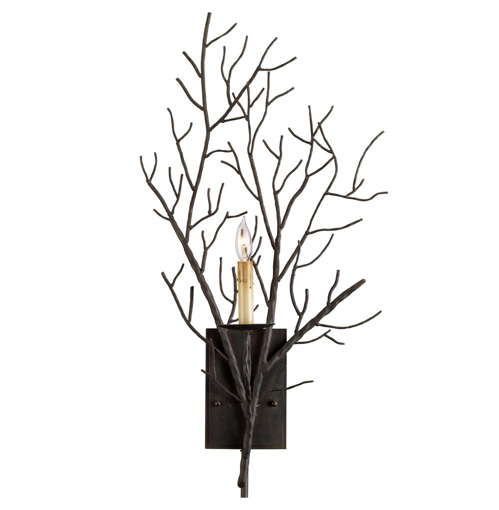 Wall Sconces With Branches : Winterfall Rustic Lodge Tree Branch Organic 1 Light Wall Sconce Kathy Kuo Home