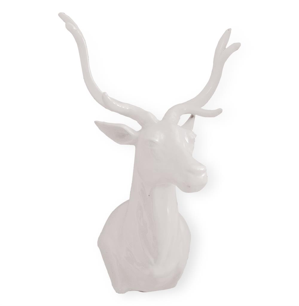 the hunt large white porcelain deer trophy head kathy kuo home