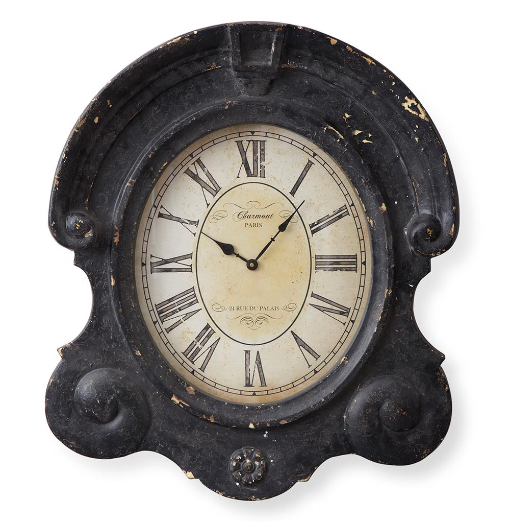 left bank antique gray french country wall clock kathy