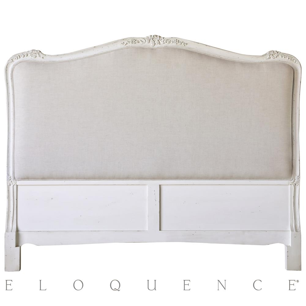 Eloquence Sophia Queen Headboard In Antique White Kathy