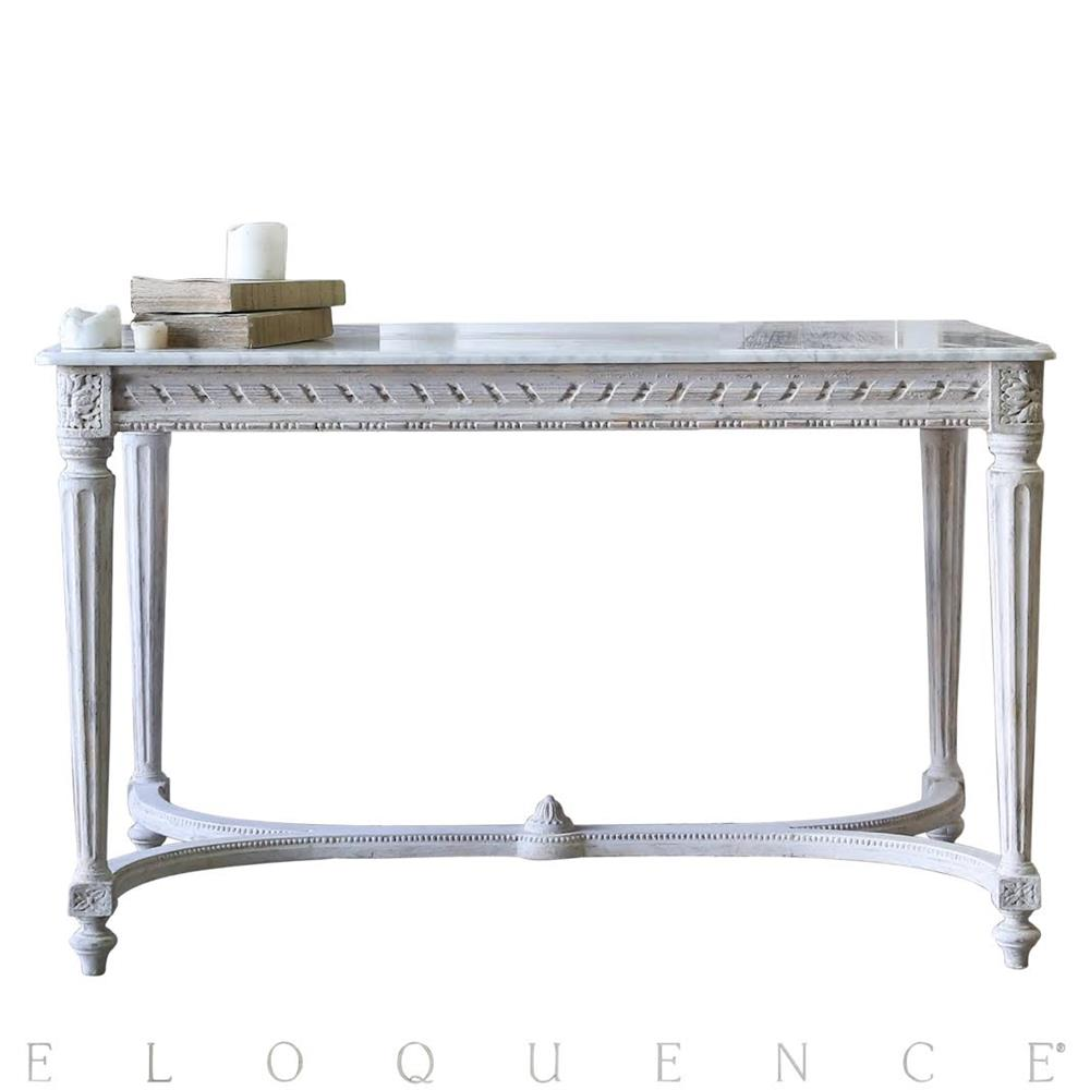 Eloquence contessa entry table in chipped white kathy kuo home geotapseo Image collections