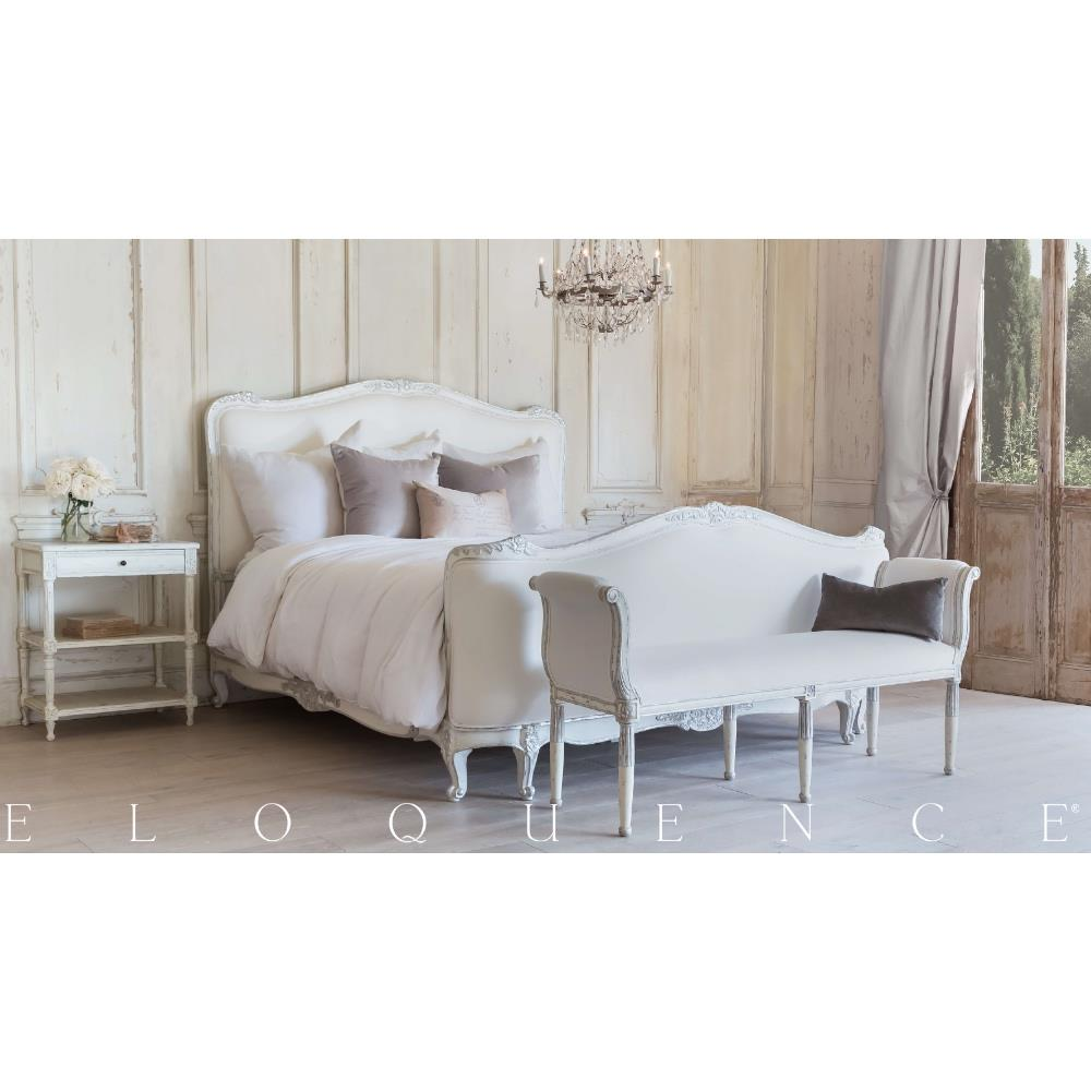 Eloquence® Napoleon Nightstand In Antique White   Kathy Kuo Home