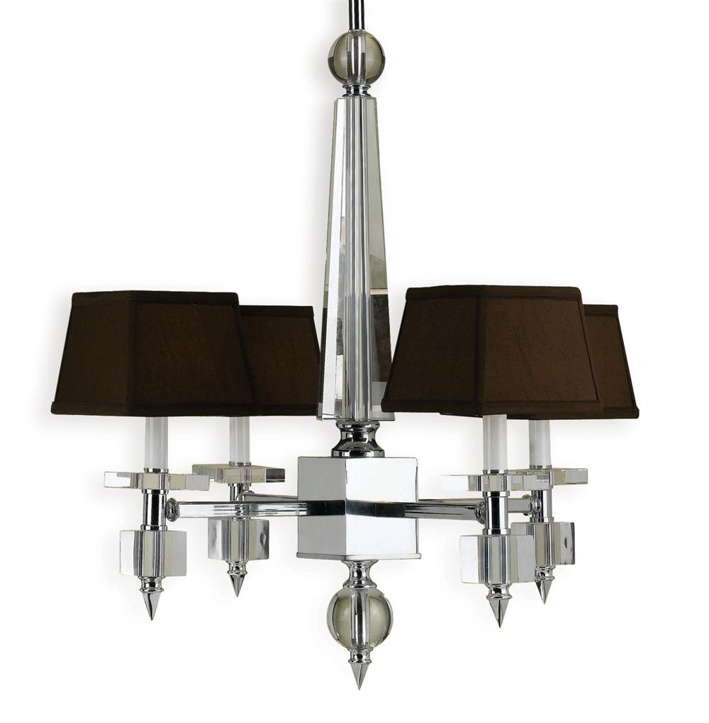 Cluny Modern Hollywood Brown Crystal 4 Light Chandelier