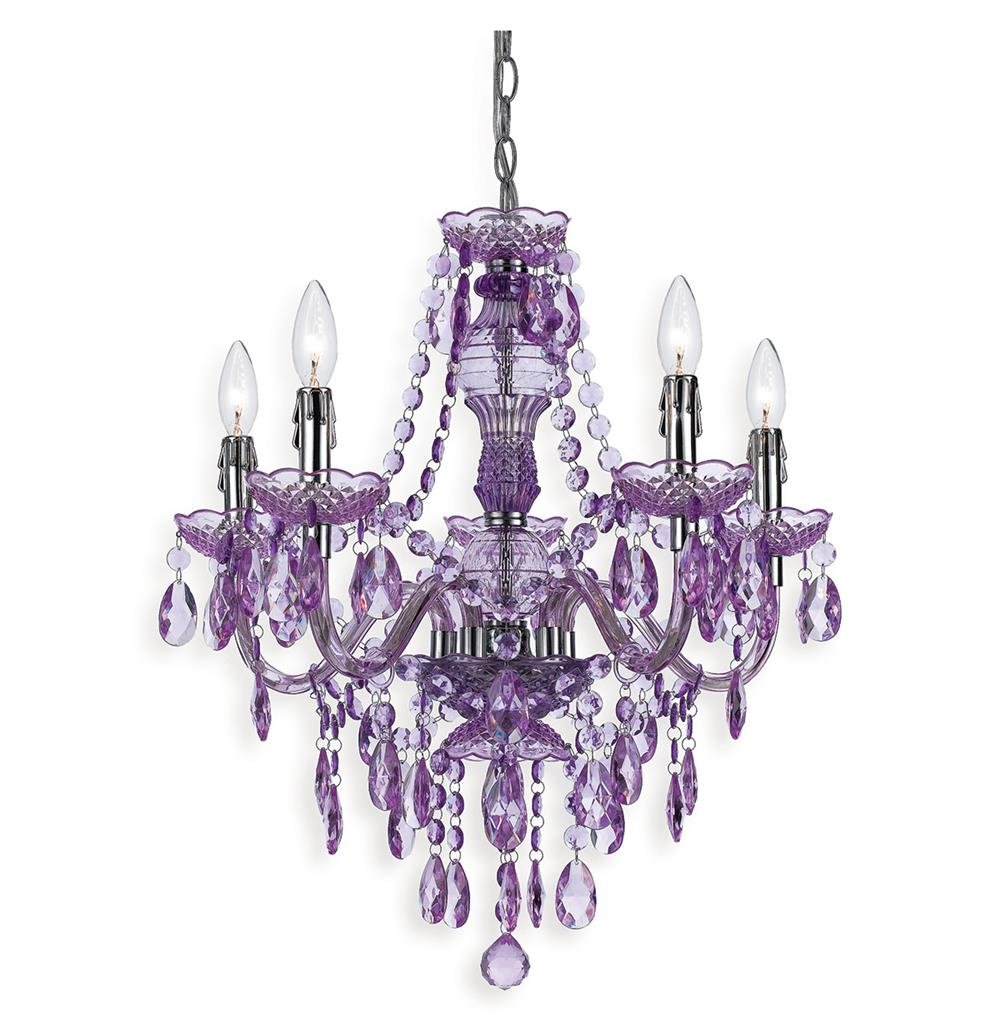 Lavender Global Bazaar Bohemian 5 Light Beaded Swag Chandelier