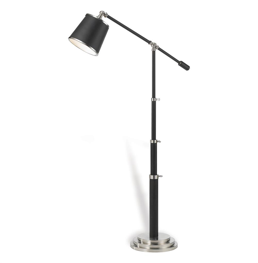 telescoping oil rubbed bronze modern floor lamp kathy kuo home. Black Bedroom Furniture Sets. Home Design Ideas