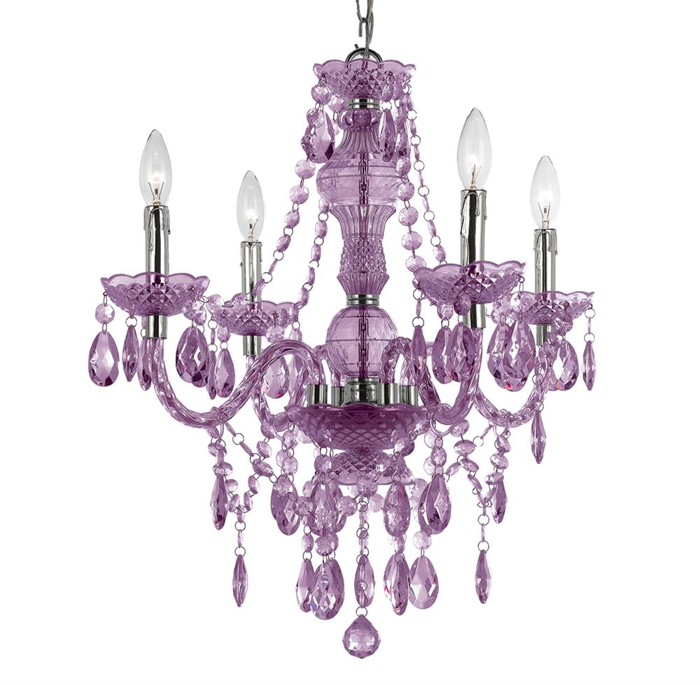 Zoe Global Bazaar Light Purple 4 Light Mini Chandelier