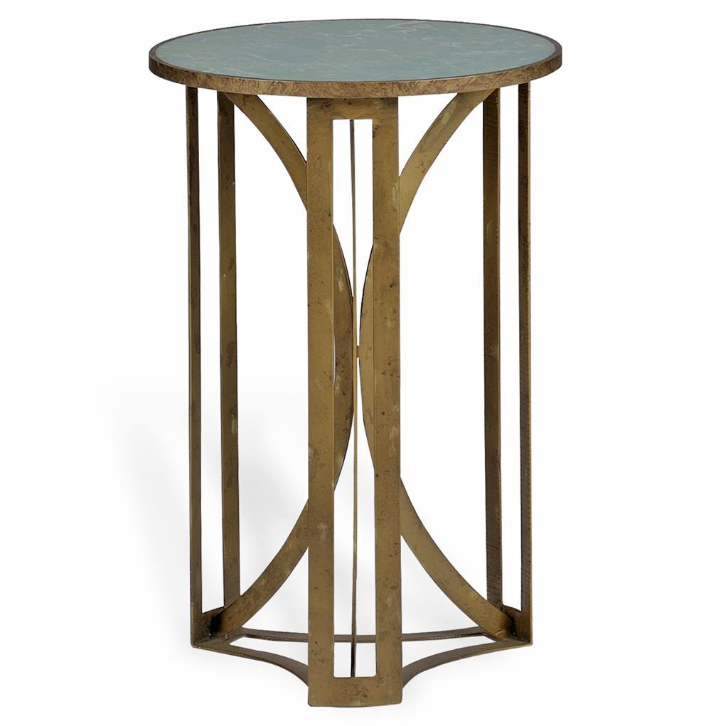 bernard hollywood regency antique brass leaf marble side table. Black Bedroom Furniture Sets. Home Design Ideas