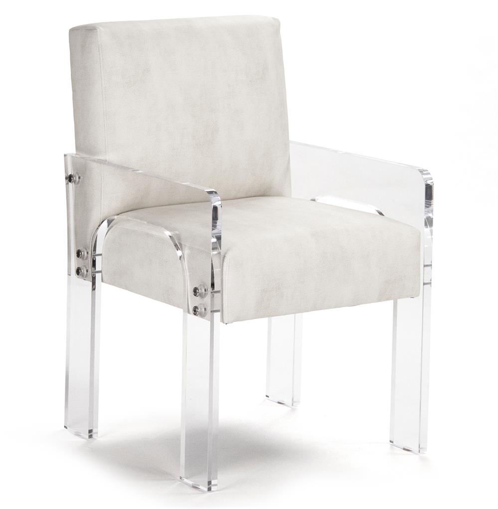 Global Views Acrylic Chair: Aniston Modern Art Deco Acrylic Arm Chair