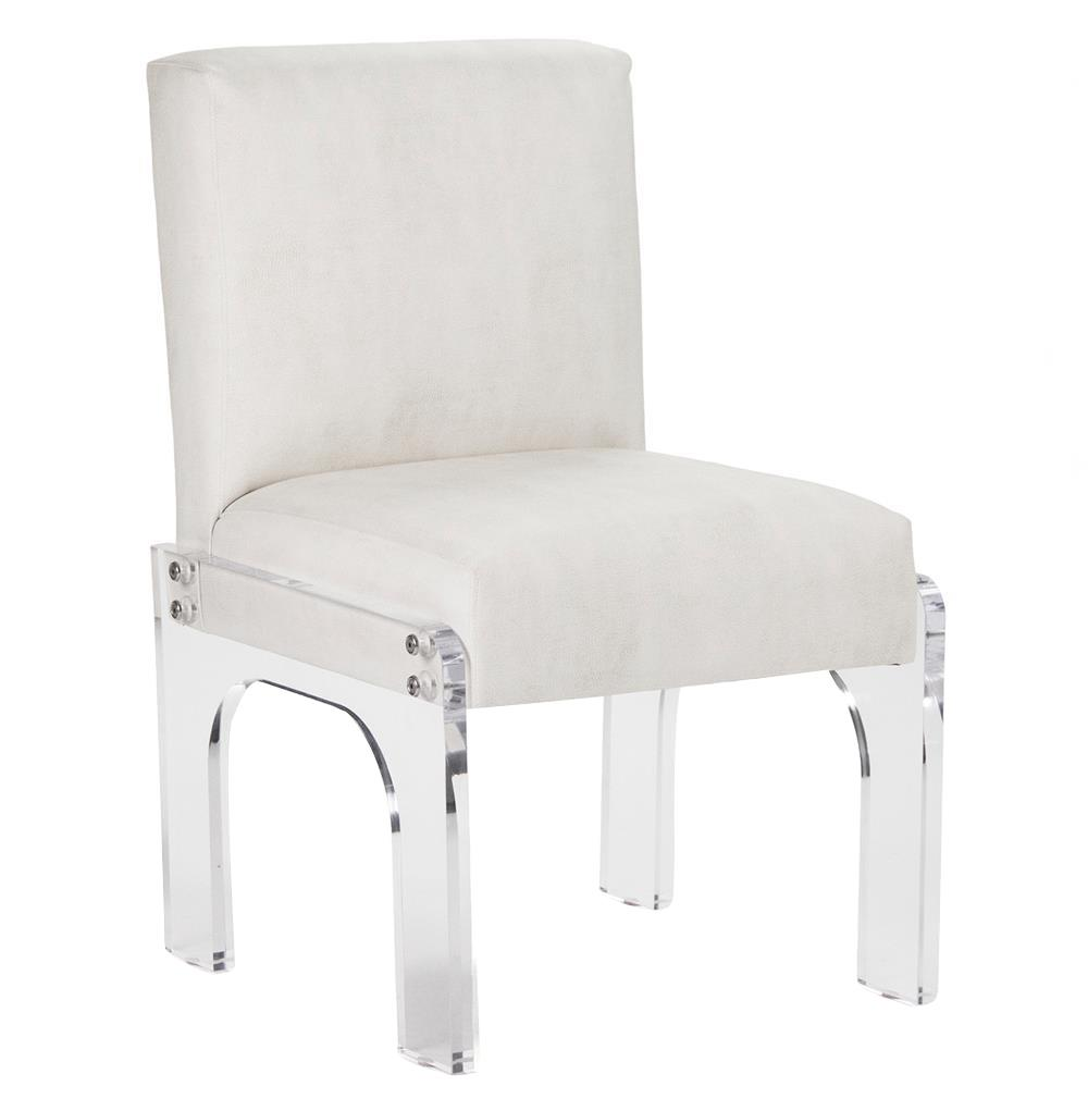 Aniston Modern Art Deco Acrylic Dining Chair Kathy Kuo Home
