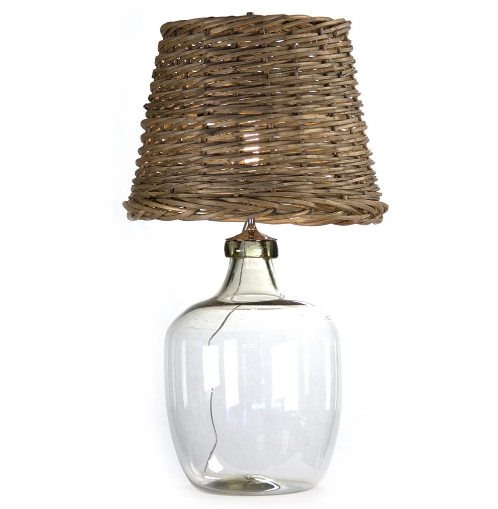 Panier French Cottage Large Glass Rustic Basket Shade ...