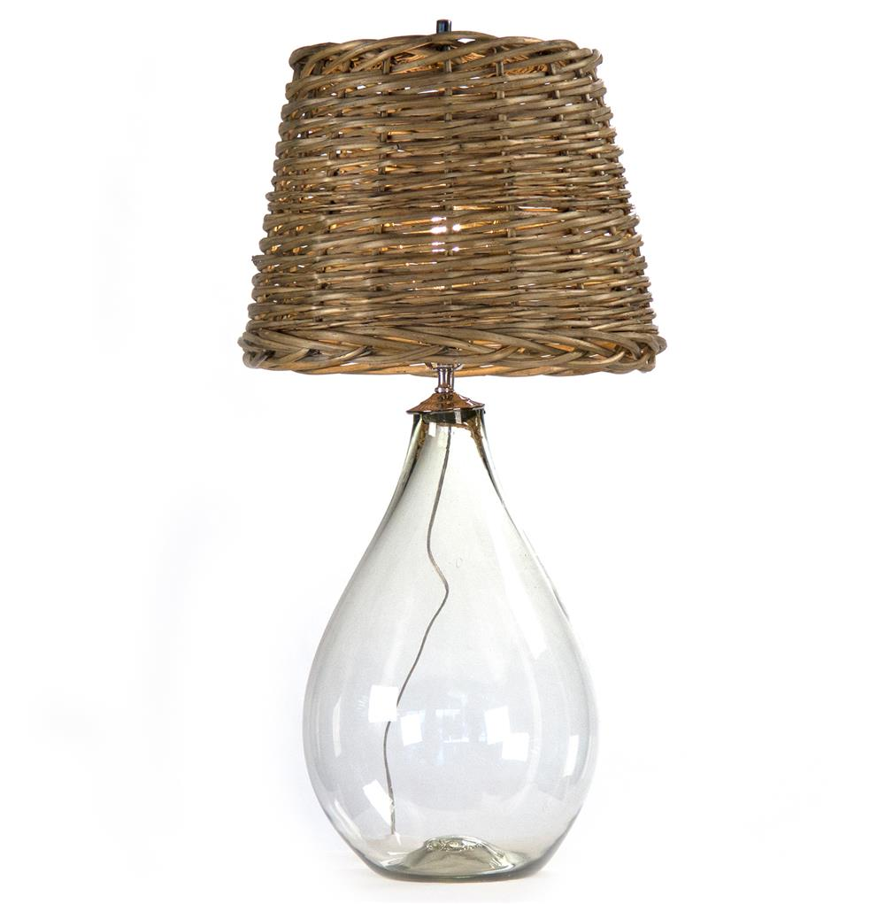 Panier French Cottage Large Glass Rustic Basket Shade