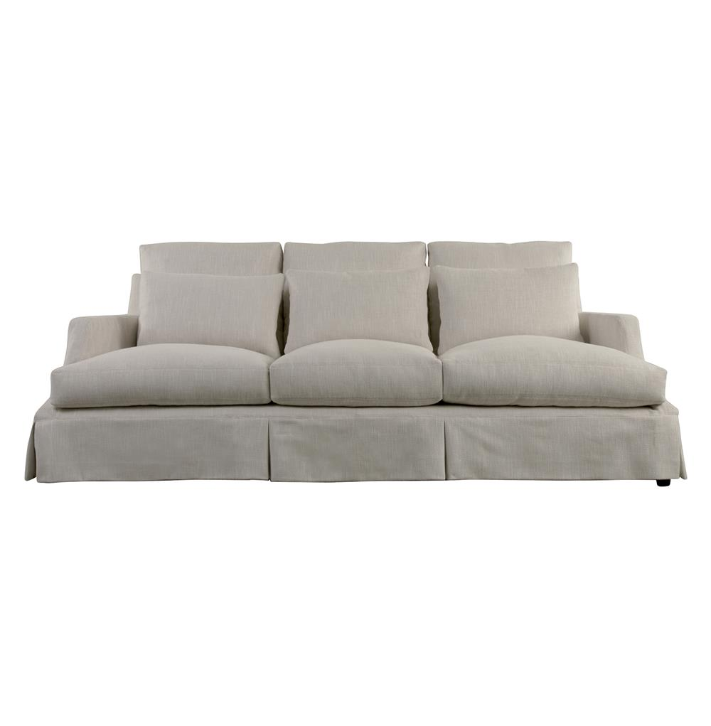 Bisous Modern French Country Ivory Sofa | Kathy Kuo Home - photo#36