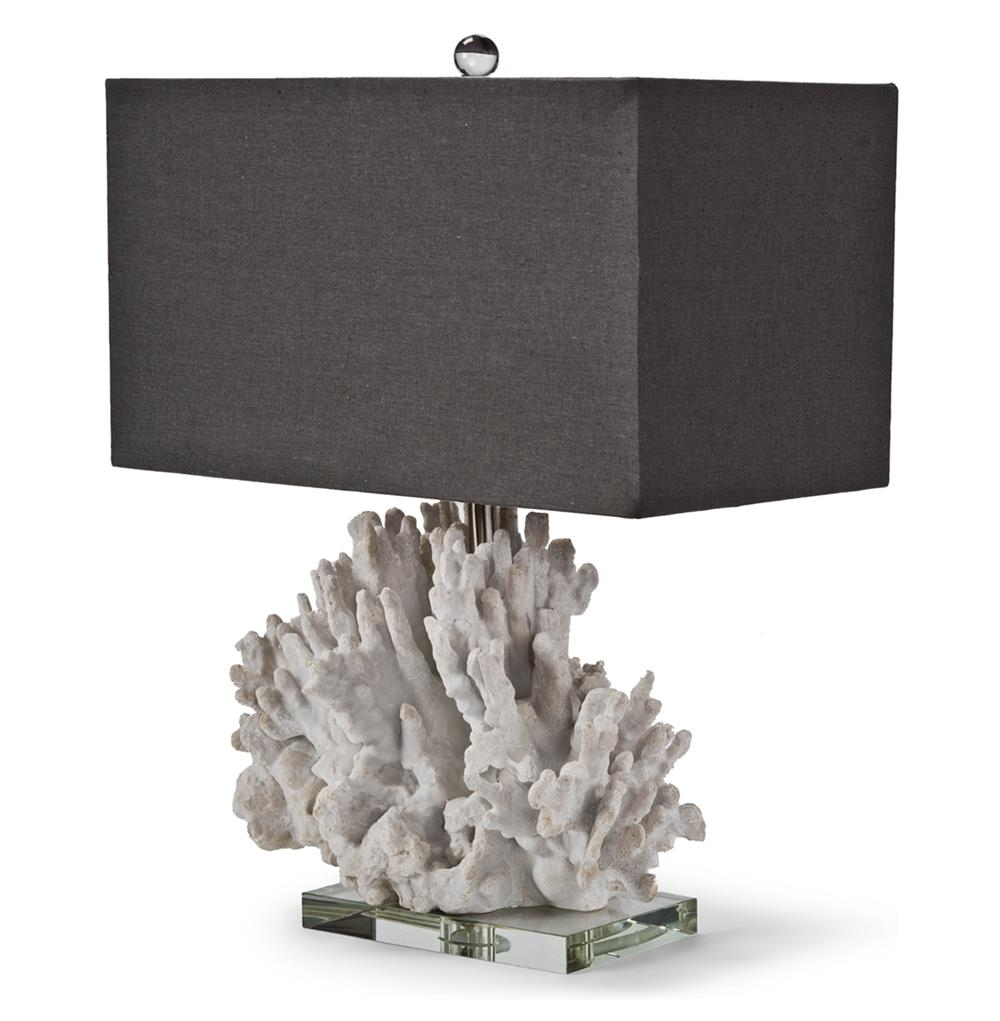 table lamps monterey coastal beach charcoal white coral table lamp. Black Bedroom Furniture Sets. Home Design Ideas