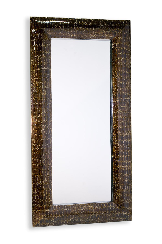 marsa faux croc lacquer large floor mirror 80 x 40 x 3