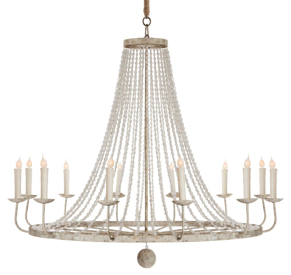 Naples french country classic beaded grey 12 light French country chandelier