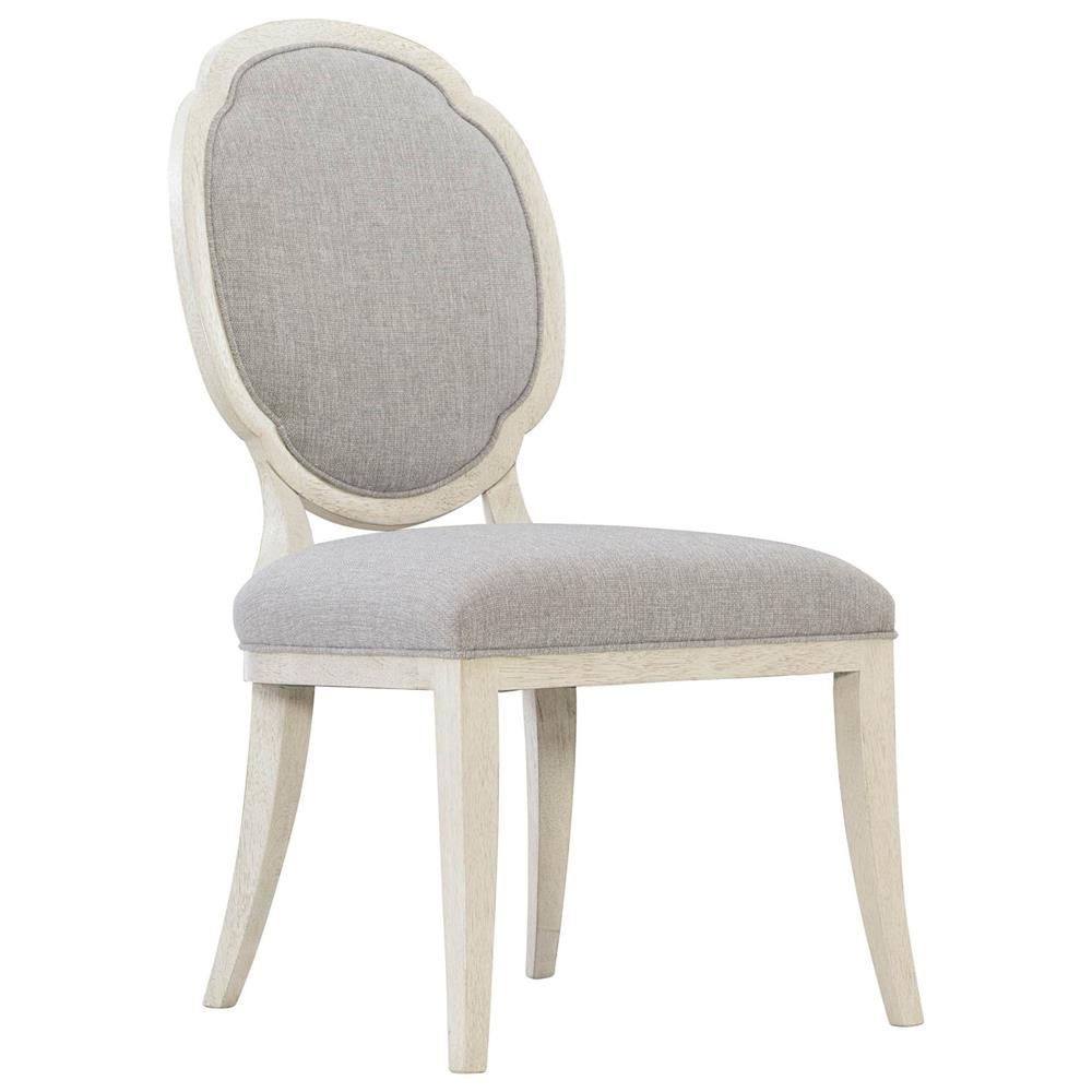Audrey French Country Light Grey Upholstered White Wood ...