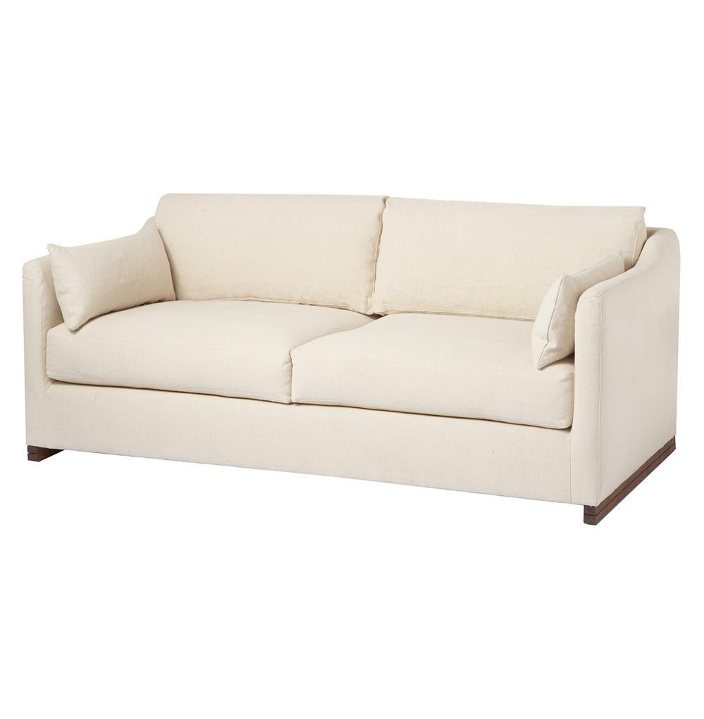 Dexter Wide Classic Natural Feather Down Condo Sofa 72 Inch Kathy Kuo Home