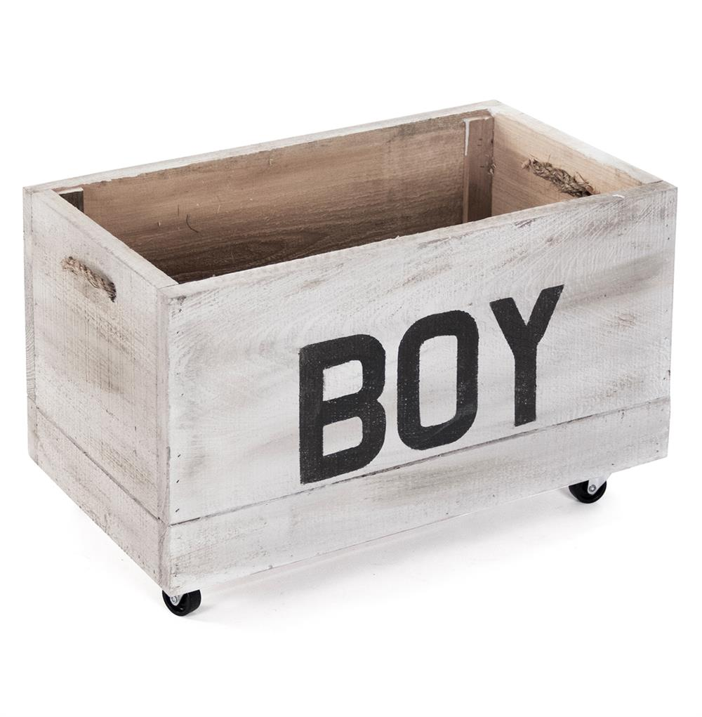 Industrial Loft Style Antique White Painted Storage Box On Casters   BOY |  Kathy Kuo Home ...