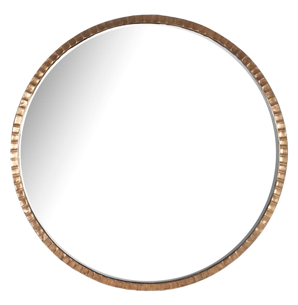 Yorkville hollywood regency large thin round wall mirror for Circle mirror
