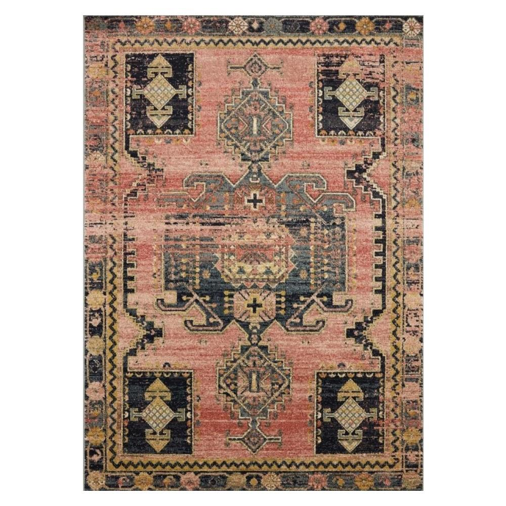 """Shop Loloi Jocelyn Global Bazaar Rose Pink Patterned Rug - 9'6""""x12'6"""" from Kathy Kuo on Openhaus"""