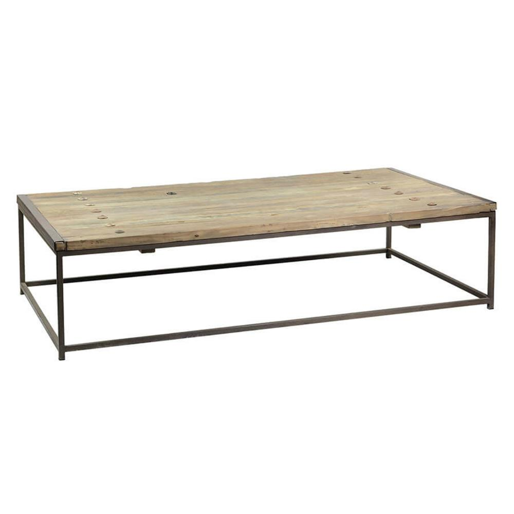 Thayer Rustic Lodge Reclaimed Elm Wood Coffee Table Kathy Kuo Home