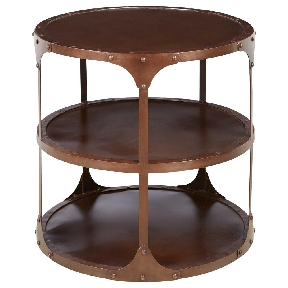 home accent tables alfons industrial loft 3 tier metal side table 1651