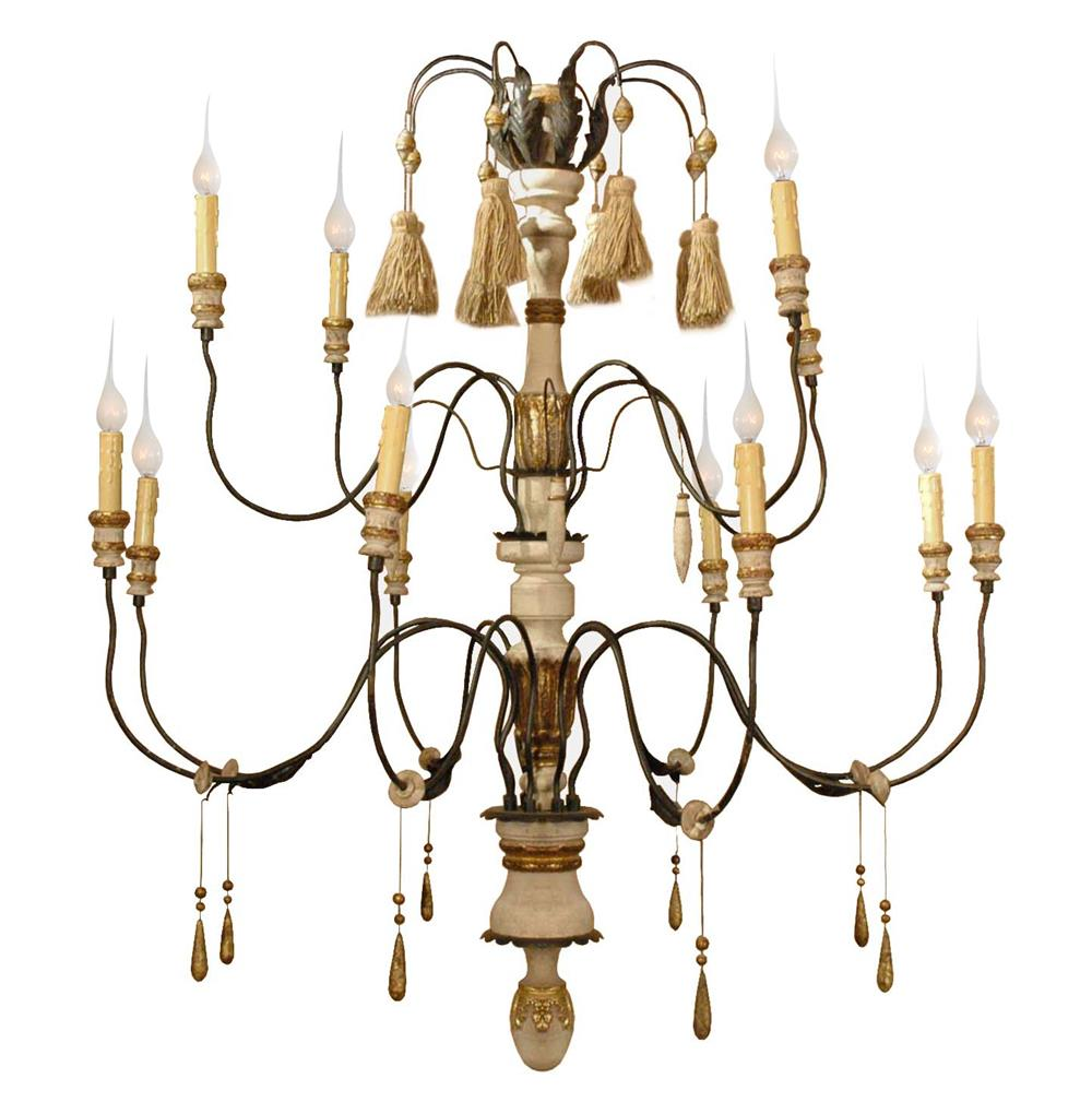 Claire French Country Flea Market 11 Light Grand Chandelier Kathy Kuo Home