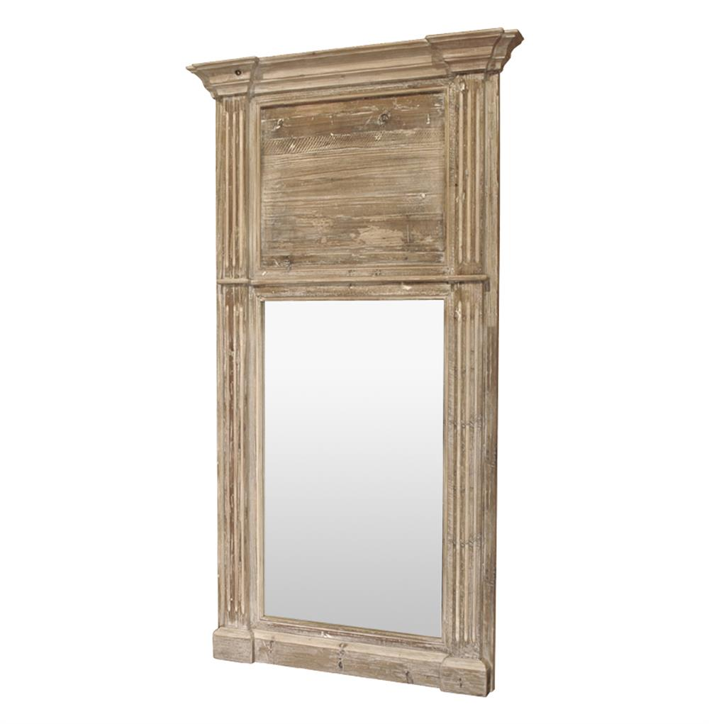 Remy french country cottage door trumeau large hall mirror for Big door mirror