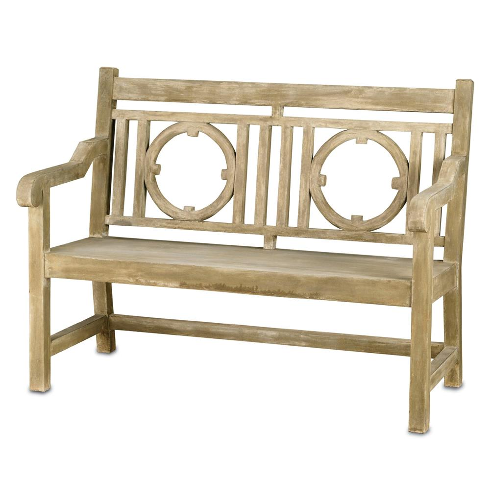Classic English Garden Outdoor Lesgrave Loveseat Bench Kathy Kuo Home