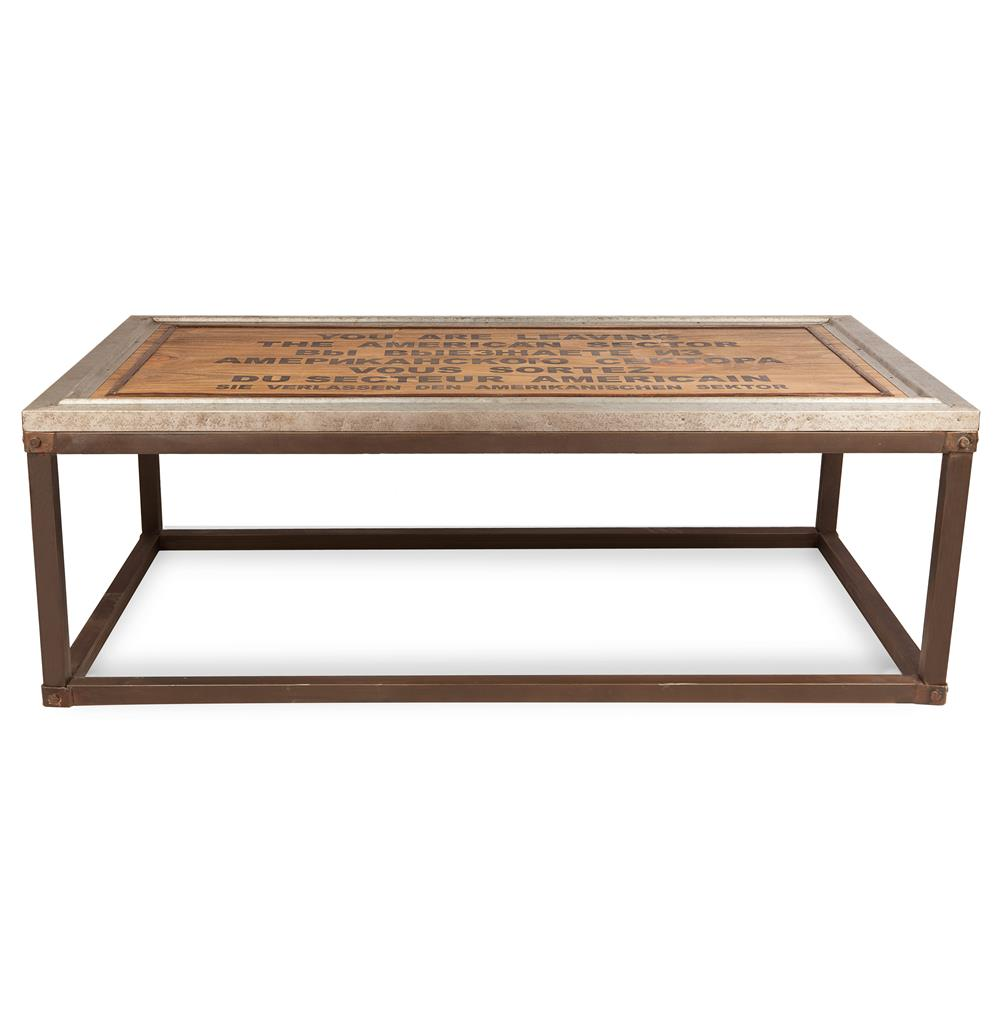 Charlie Industrial Loft Wood Iron Historical Coffee Table Kathy Kuo Home