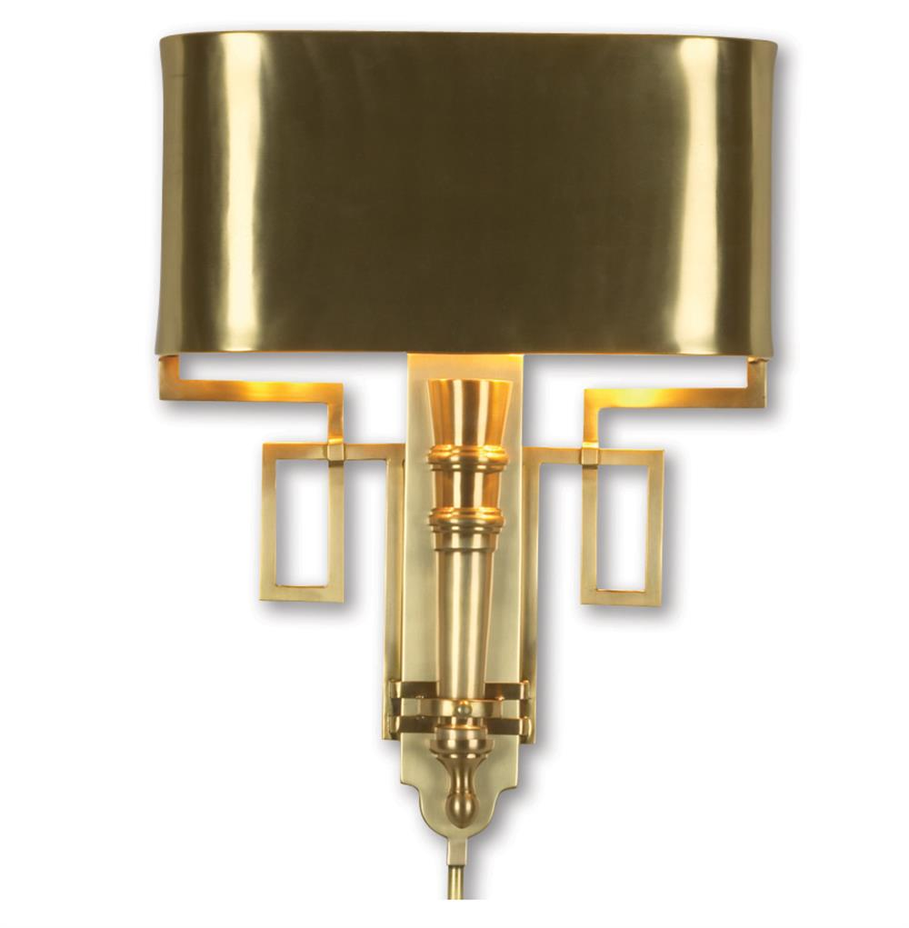 Pasadena hollywood regency polished gold deco style sconce