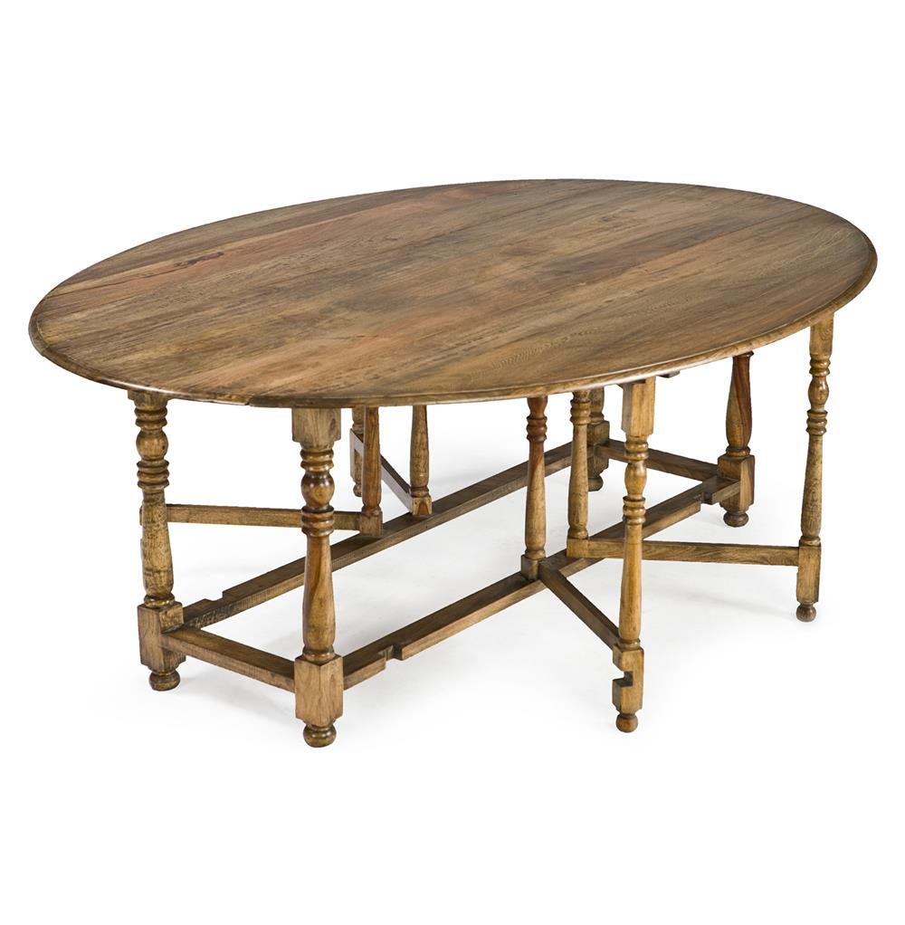 Rafael oval gate leg drop leaf wood dining table kathy for Hardwood dining table