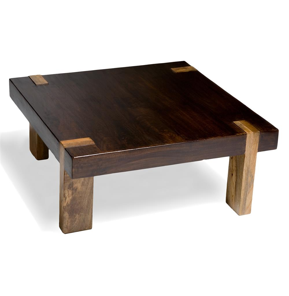 Berkeley Solid Wood Chunky Contemporary Rustic Coffee Table Kathy Kuo Home
