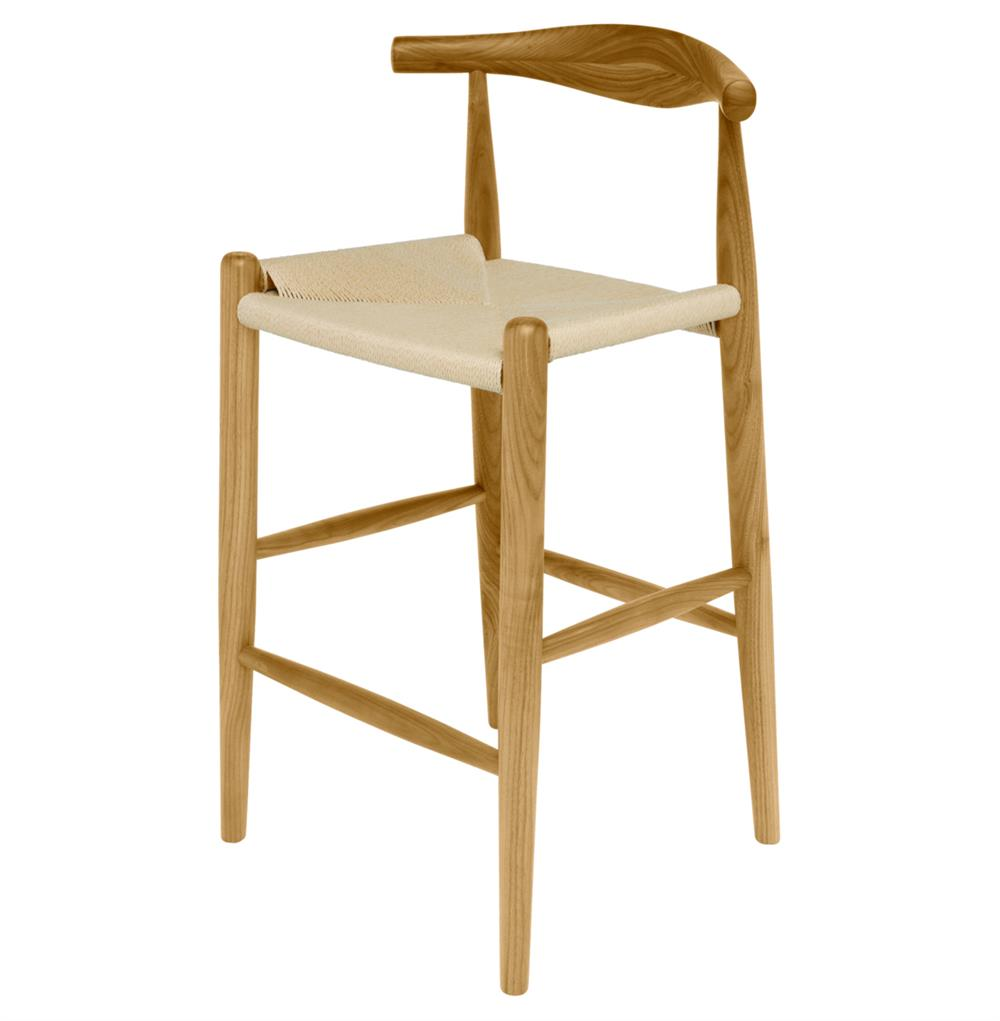 Quinn American White Oak Modern Rattan Seat Counter Stool  : product6937 from www.kathykuohome.com size 1000 x 1021 jpeg 45kB