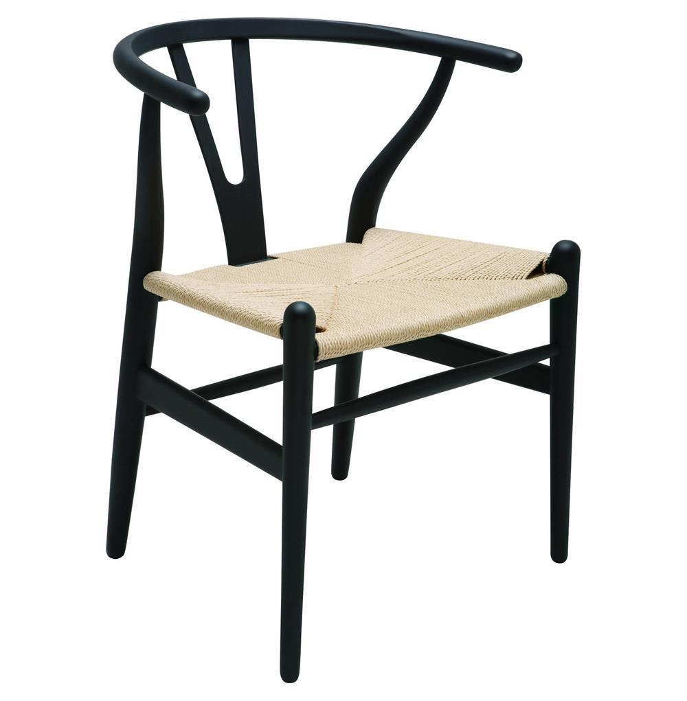 Jace ming modern global bazaar rattan black dining arm for Modern rattan dining chairs