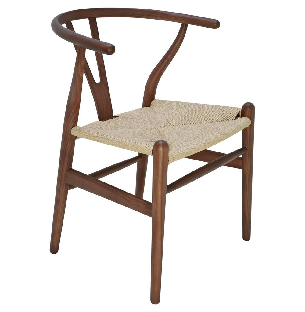 Jace ming modern global bazaar rattan brown ash dining arm for Modern rattan dining chairs
