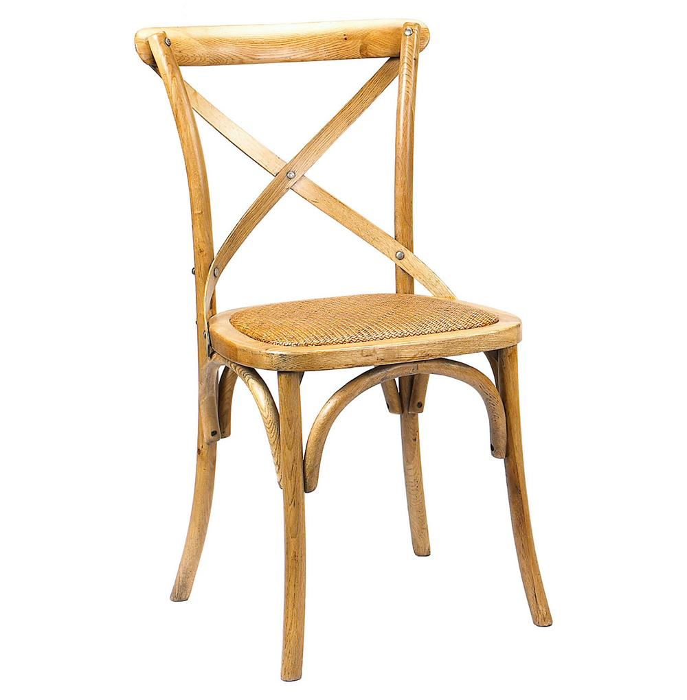 Kasson French Country Light Oak Wood Dining Side Chair Pair