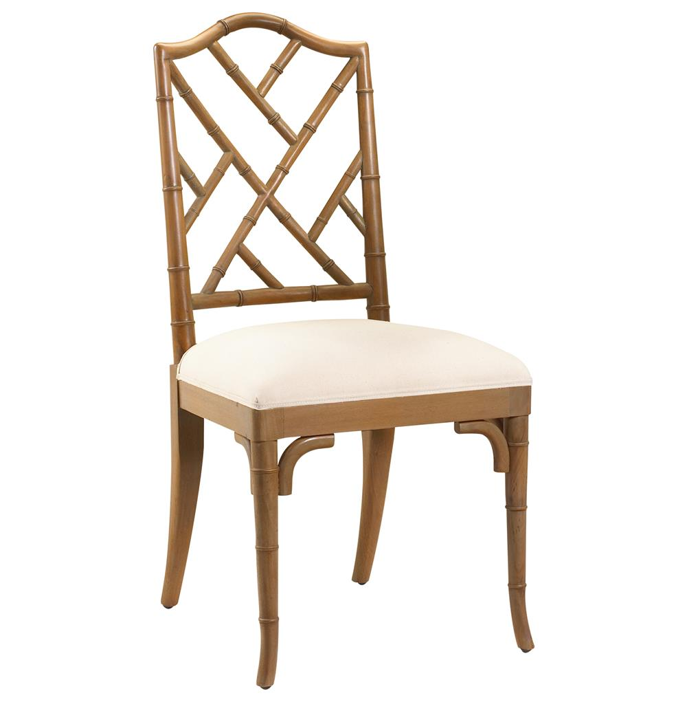 ... Hollywood Regency Brown Bamboo Dining Chair  Kathy Kuo Home