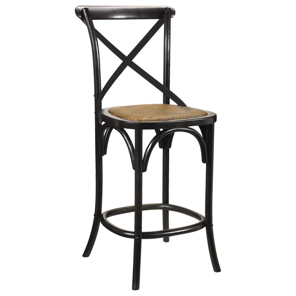 Kasson French Country Black Oak Wood Bar Stool Kathy Kuo  : product7042 from www.kathykuohome.com size 1000 x 1000 jpeg 49kB