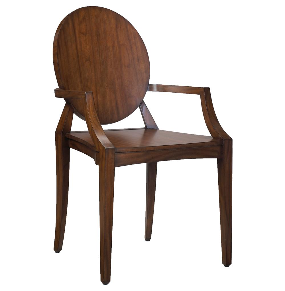Baudin French Rustic Lodge Modern Mahogany Wood Dining Arm