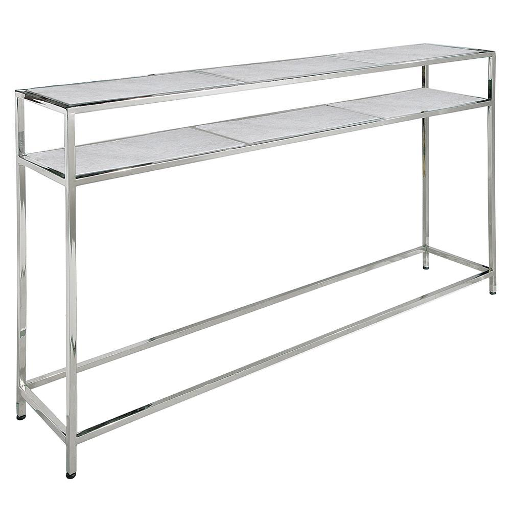 Ordinaire Winfrey Modern Hollywood Regency White Marble Silver Console Table | Kathy  Kuo Home