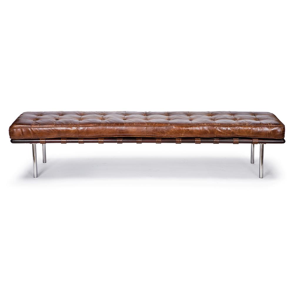 Bennet Rustic Lodge Tufted Brown Leather Bench Kathy Kuo  : product7117 from www.kathykuohome.com size 1000 x 1020 jpeg 42kB