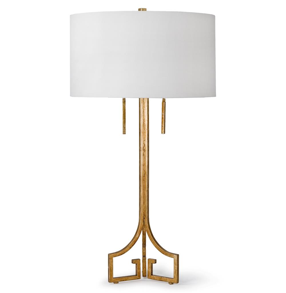 Tandy hollywood regency linen gold leaf table lamp kathy kuo home aloadofball Choice Image