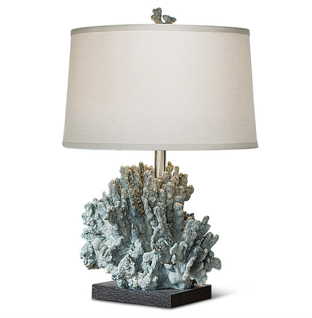 table lamps andros coastal beach blue grey coral table lamp. Black Bedroom Furniture Sets. Home Design Ideas
