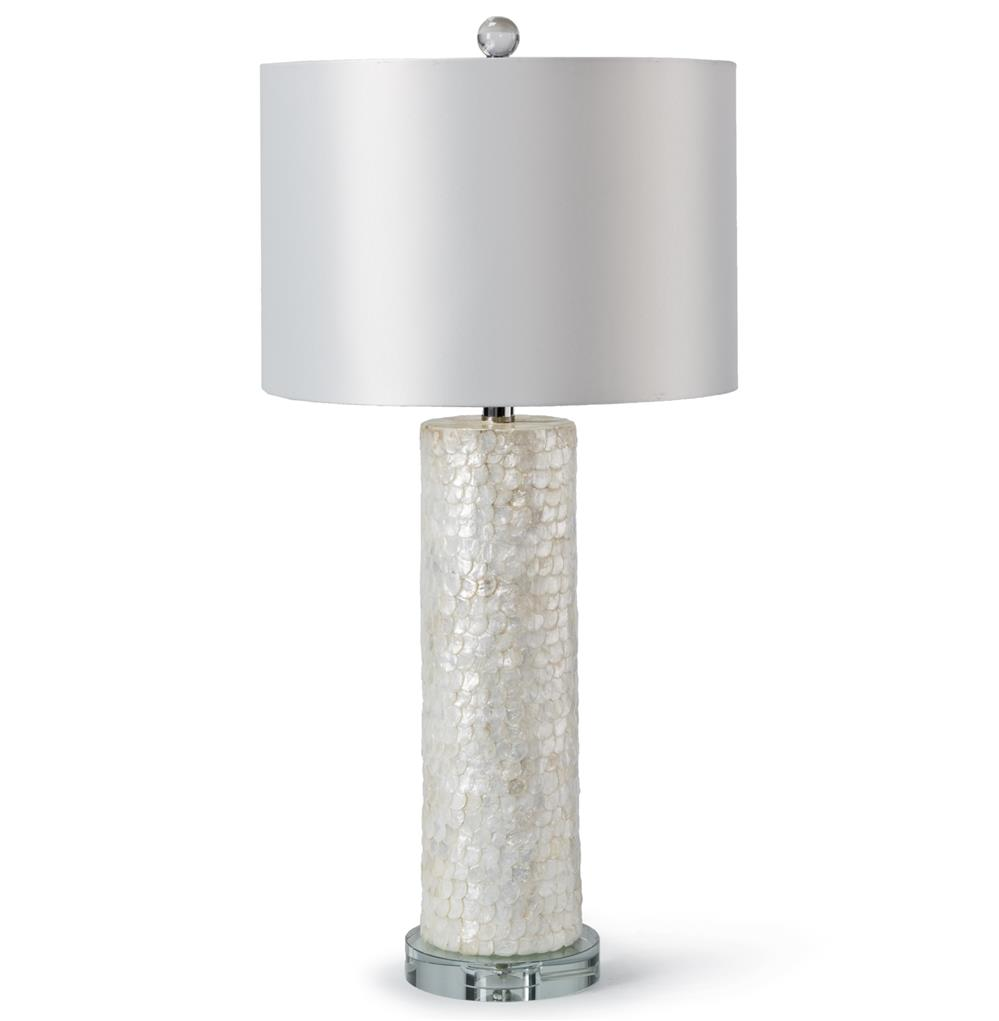 Sapelo Coastal Beach Ivory Capiz Shell Table Lamp