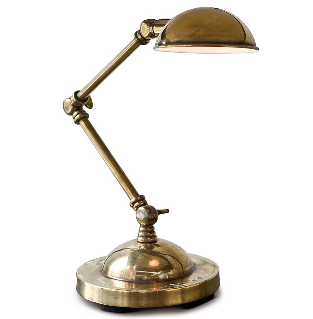 Alva Industrial Loft Adjustable Antique Brass Task Lamp