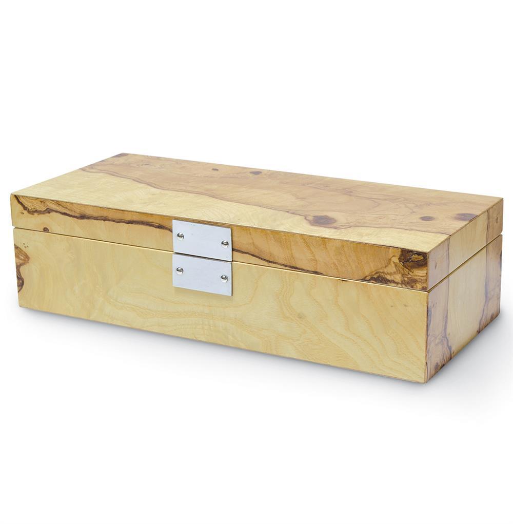 Palecek Olive Modern Rustic Lodge Olive Ash Burl Box   Kathy Kuo Home
