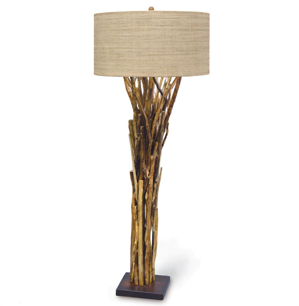 Palecek Natural Branch Lodge Bundled Branches Floor Lamp