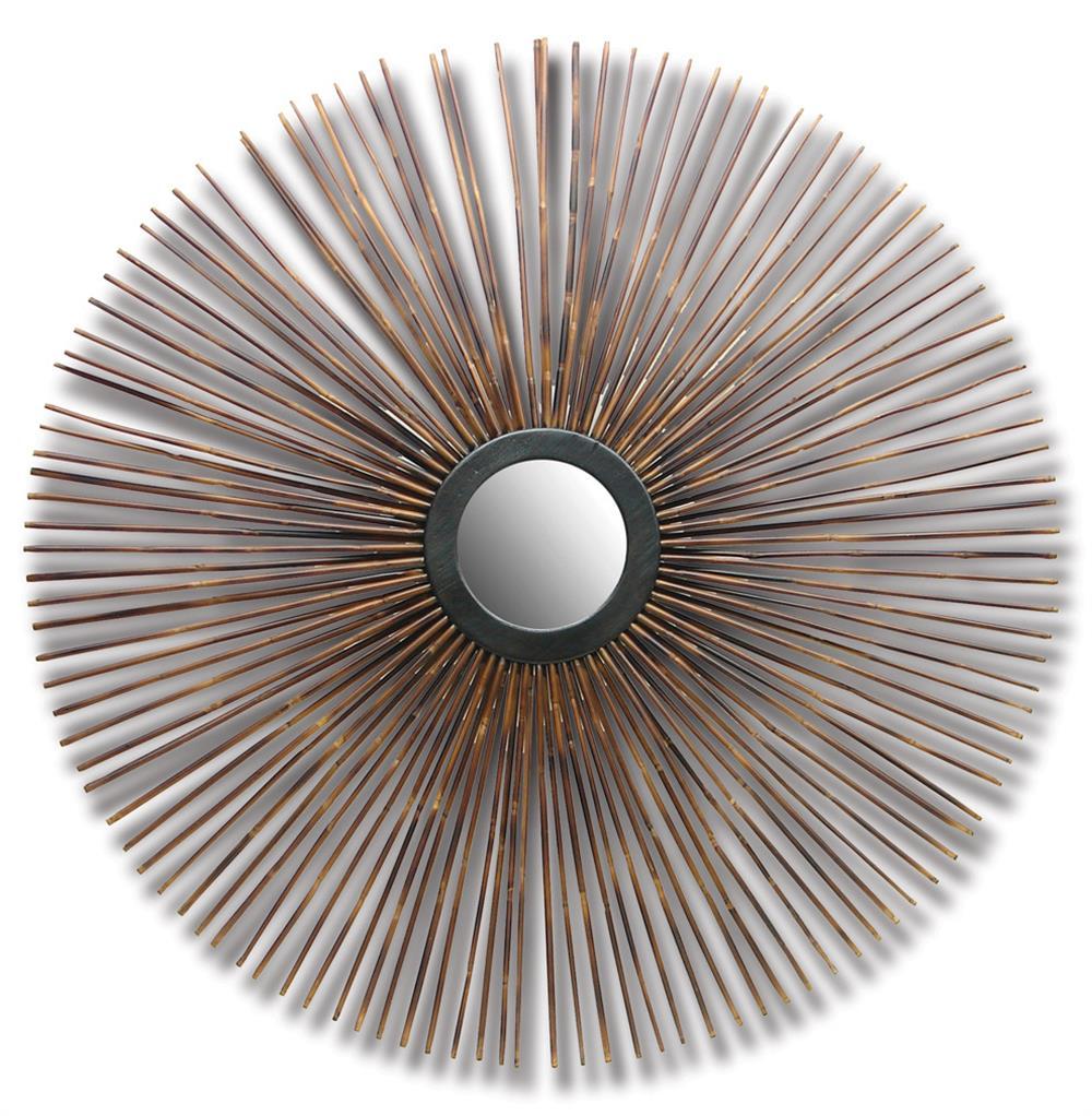 Dandelion bamboo global bazaar sunburst wall mirror for Sunburst mirror